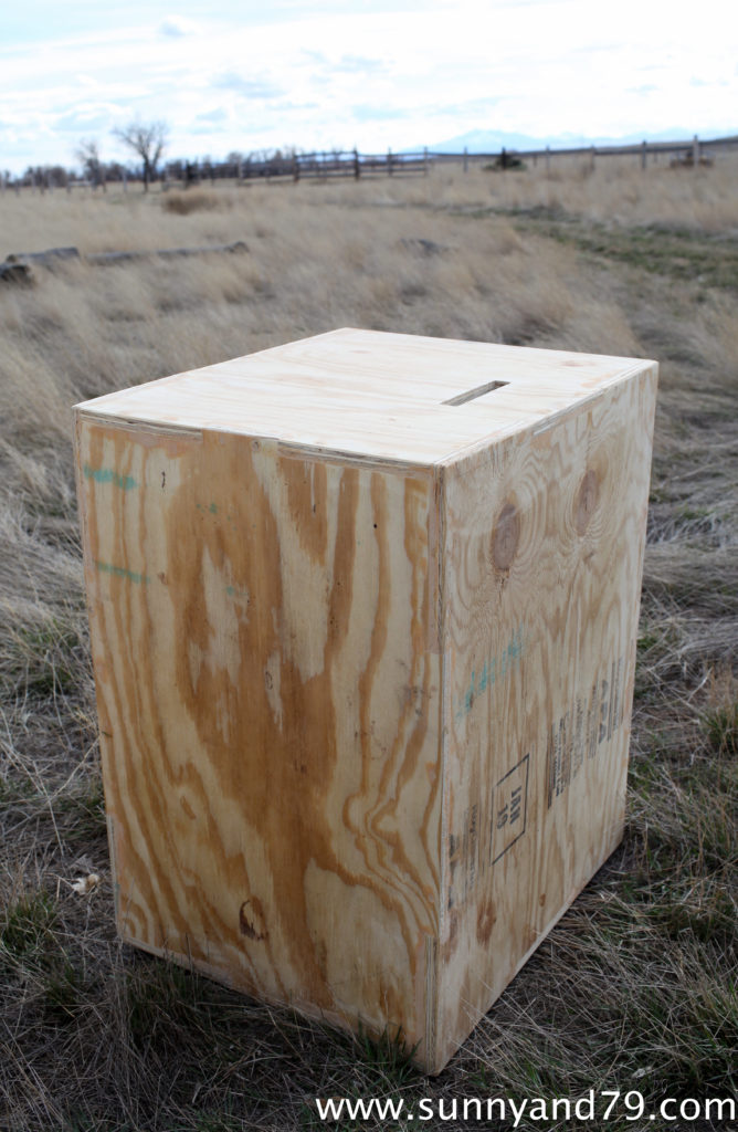 Build a diy in plyometric box for box jump exercises